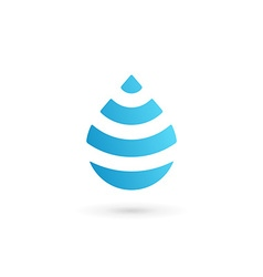 Water drop symbol logo design template icon May be vector image