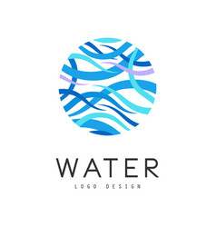 Water logo design brand identity template vector
