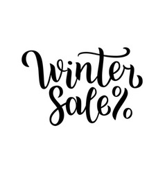 winter sale hand written inscription with isolated vector image