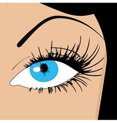 Womans eye vector