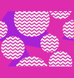 zigzag seamless pattern with pink and violet vector image