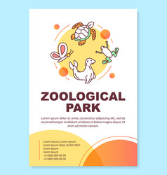 Zoological park poster template layout oceanarium vector