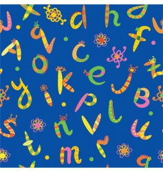 alphabet seamless bright funny pattern vector image vector image