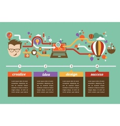Design creative idea and innovation infographic vector image vector image