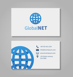 Global corporation business card vector image