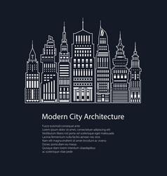 poster modern big city vector image