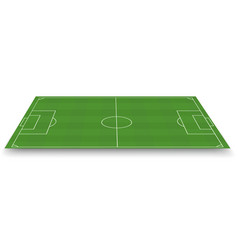 soccer field side view vector image