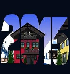 christmas alps 2015 vector image