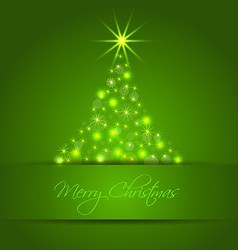 Christmas star tree background vector