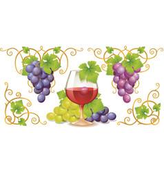 grape elements vector image