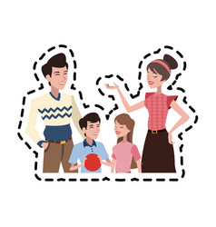 happy family icon image vector image vector image