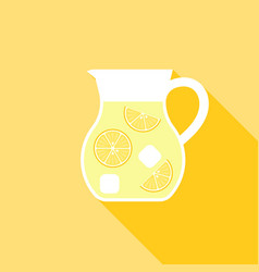 lemonade juice jug icon vector image vector image