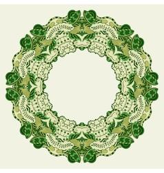 Round ornamental frame vector image