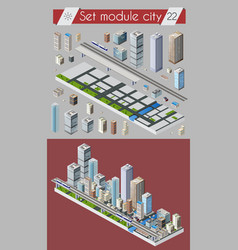 cityscape design elements vector image