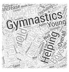 Boys and Gymnastics Word Cloud Concept vector image vector image