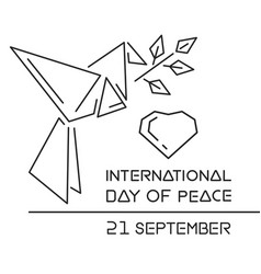 international day of peace logo design vector image