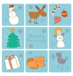 Merry christmas happy companions vector