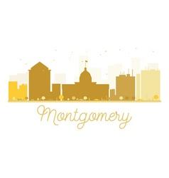 Montgomery City skyline golden silhouette vector image vector image