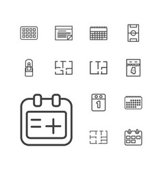13 plan icons vector