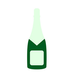 a bottle of champagne icon happy new year vector image