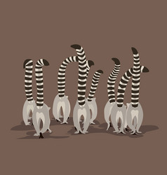 A flock of lemurs vector