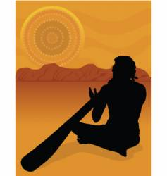 Aboriginal silhouette vector