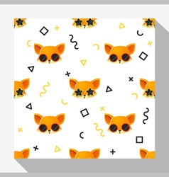 Animal seamless pattern collection with fox 6 vector