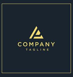 Ap or pa triangle logo vector