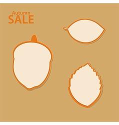 Autumn sale labels collection vector