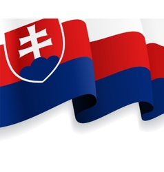 Background with waving Slovak Flag vector