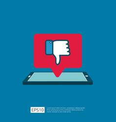 bad review concept dislike bubble message symbol vector image