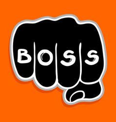 Boss punch vector