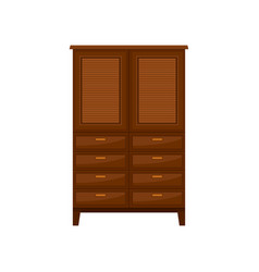 brown wardrobe interior design element vector image