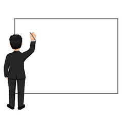 Businessman with pen and blank board vector