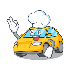 Chef taxi character cartoon style vector