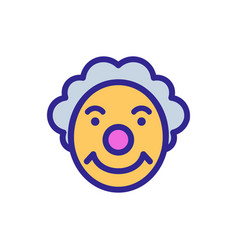 Circus character with sly smile icon vector