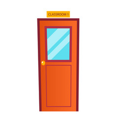 Classroom door classic school entrance vector
