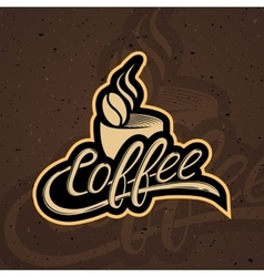 Coffee Logo Background vector image