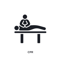 Cpr isolated icon simple element from humans vector