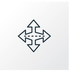 crossroad icon line symbol premium quality vector image