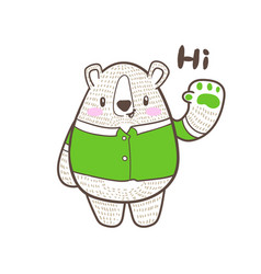 cute little tiger cartoon doodle vector image