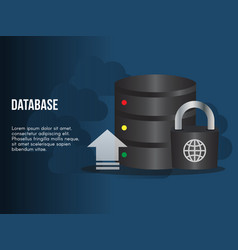 database update concept design template vector image