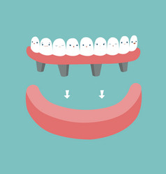 dentures teeth and tooth concept of dental vector image