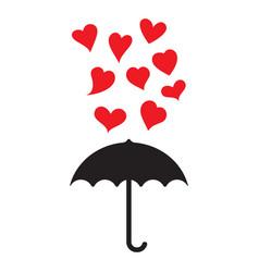 falling hearts vector image