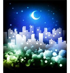 fantasy city vector image