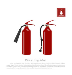 Fire extinguisher on a white background vector