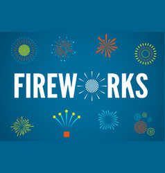 fireworks festive greeting concept vector image