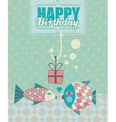 Fish Birthday Card vector