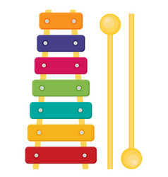 flat colorful xylophone toy vector image