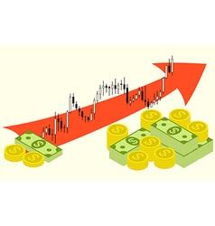 Forex money growth vector